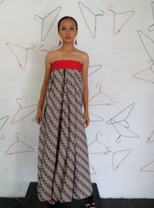 Sarong Dress Polka red