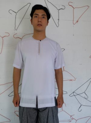 Short shirt layer White