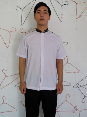 Short Shirt White motif Black