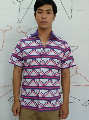 Short Shirt Purple White