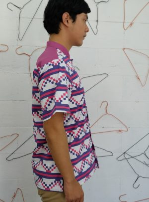 Short Shirt Pink White