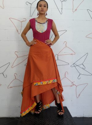 Round Skirt Orange